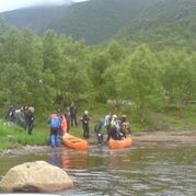 Canoes are populare activities