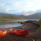 Canoes and kayak are a popular activity in the campsite